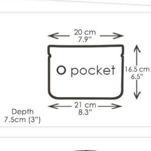 O Bag Bags - Italian made O pocket shoulder bag, flap, & strap